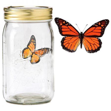 Электронная бабочка в банке Монарх с подсветкой