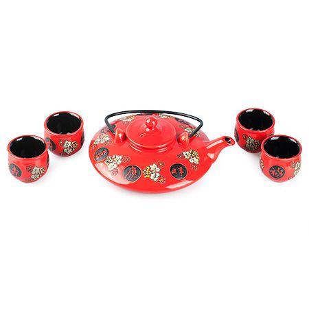 """Набор чайный """"Сакура"""" красный"""