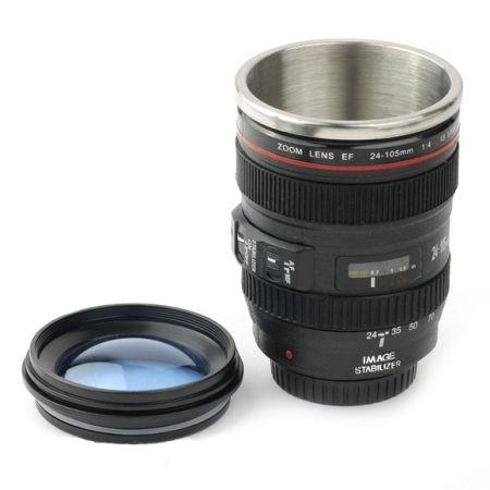Термокружка Объектив фотоаппарата 24-105 mm крышка-линза с чехлом