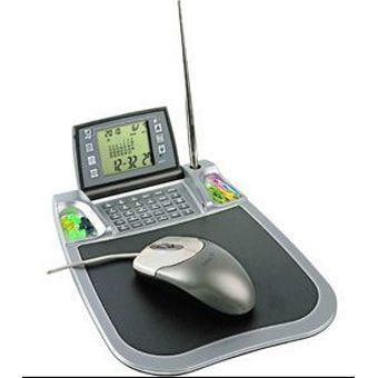 Коврик для мыши с часами и калькулятором