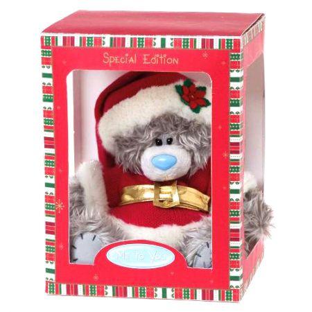"Мишка ""Me to You"" 20 см в коробке - в костюме Дед Мороза G01W2760"