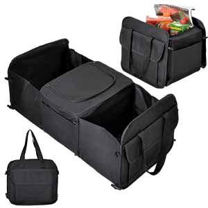 Органайзер - складная сумка с термоотсеком в багажник авто черный