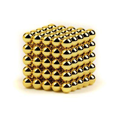 Головоломка Нео куб - мини 5мм 125 сфер золото
