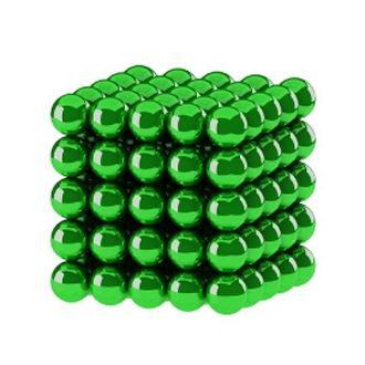 Головоломка Нео куб 5мм 125 сфер зеленый