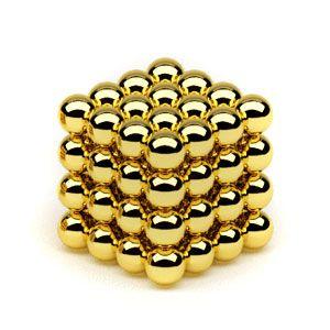 Головоломка Нео куб 5мм 64 сферы золото