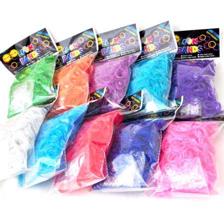 Набор резиночек для плетения браслетов Loom Bands 600 фиолетовый