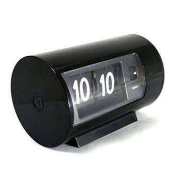 """Часы """"Перекидные"""" с будильником черные"""