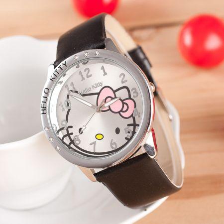"""Часы """"Hello Kitty"""" наручные черные"""