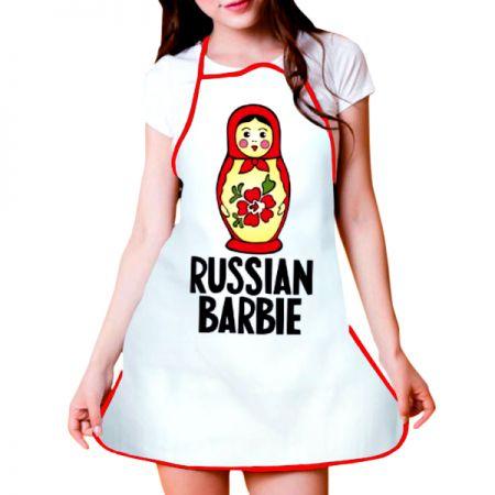 """Фартук """"Russian Barbie"""" подарочный"""