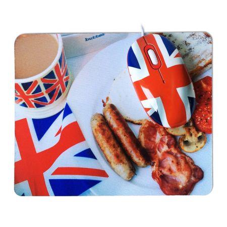 """Подарочный набор """"Английский завтрак"""" мышка и коврик USB"""