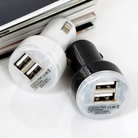 Переходник с 12-24 V на 2 USB в автомобиль