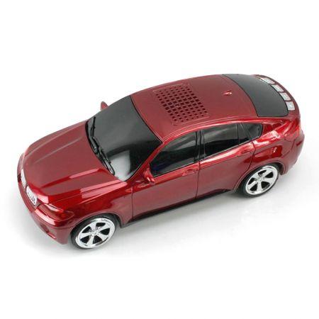 Портативная колонка-машинка BMW X6 с USB, micro SD, AUX и FM