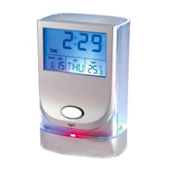 """Часы-будильник """"Подставка для ручек"""" с подсветкой и термометром"""