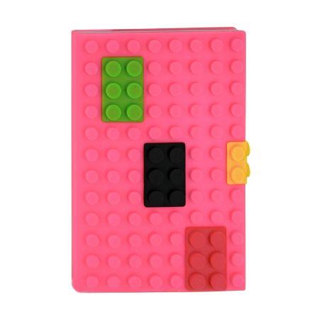Обложка на паспорт Lego розовая