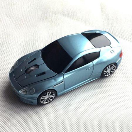 """Мышь - машинка """"Aston Martin"""" беспроводная 2,4GHz бирюзовая"""