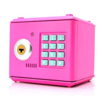 Копилка электронный сейф с кодовым замком для детей розовый