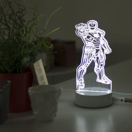 3D светильник Железный человек 30 см