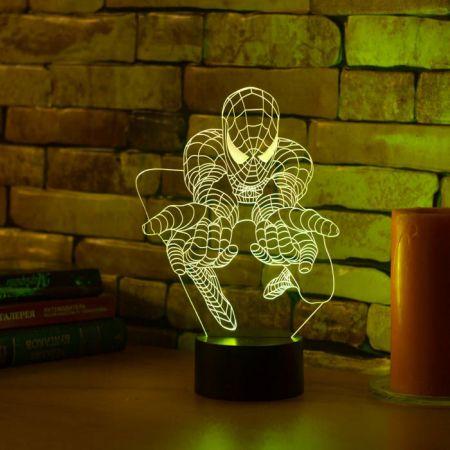 """3D светильник """"Человек Паук"""" 25 см"""