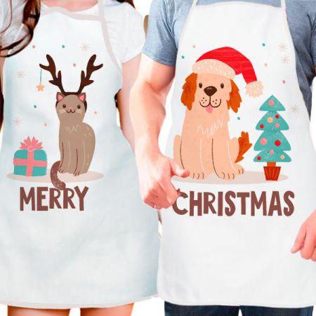 """Фартук парные """"Merry christmas"""""""