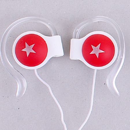 Наушники накладные цветные звезды красные