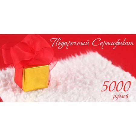 Подарочный сертификат на 5000р. дизайн 3