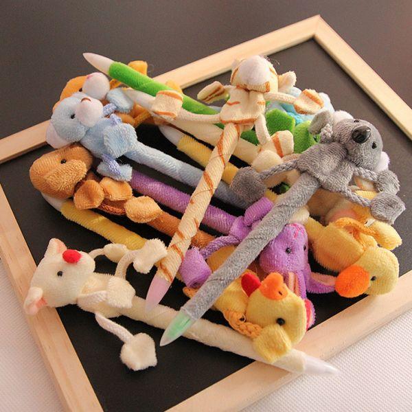 Ручки с игрушками зверятами в ассортименте