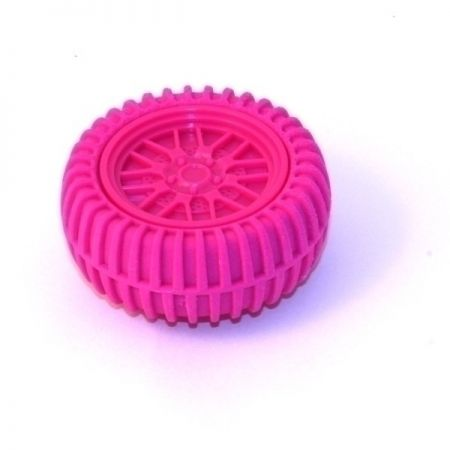 Точилка для карандашей Колесо розовая