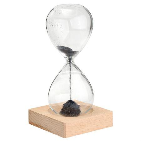 Магнитные песочные часы 10,5х21 см с магнитным песком