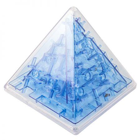 Головоломка лабиринт Пирамида синяя