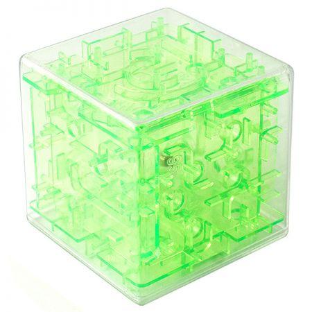 Головоломка лабиринт Куб зеленая